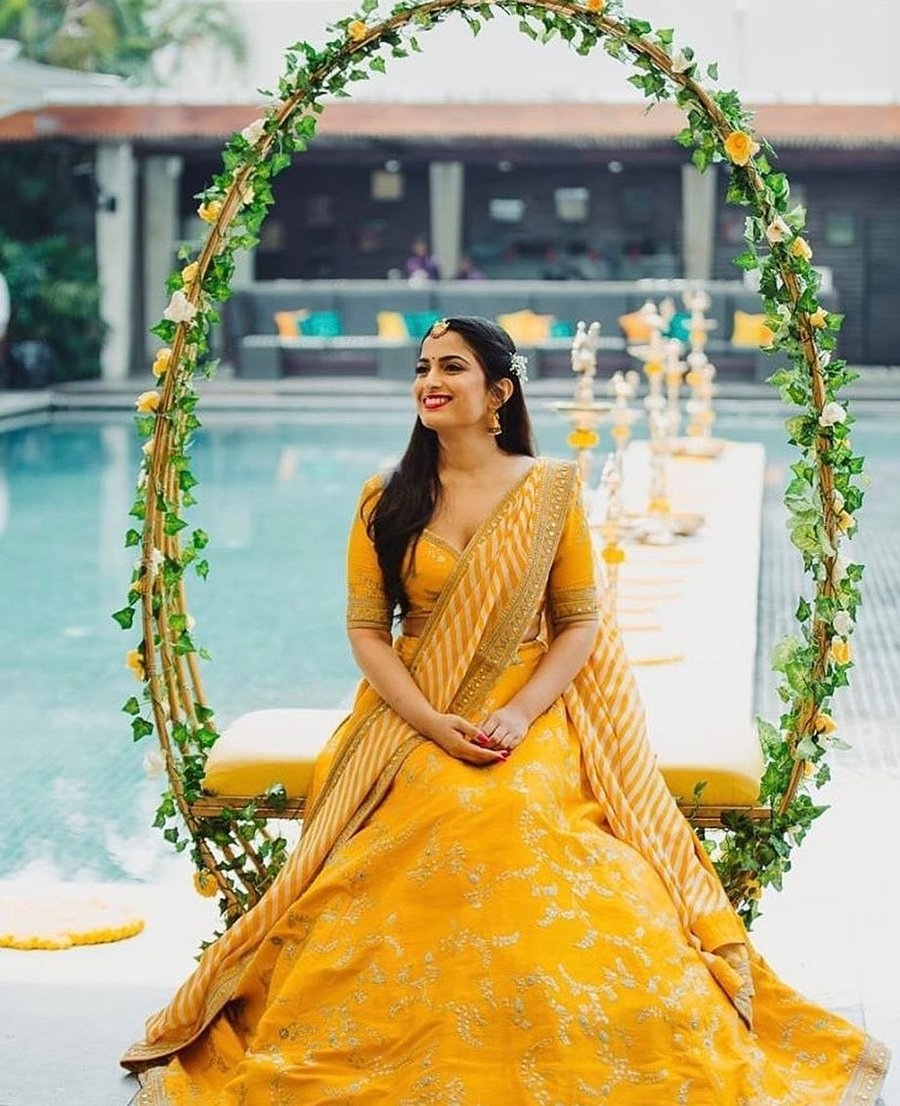 Yellow Lehenga   Weddings Junction   Wedding Planner In Lucknow